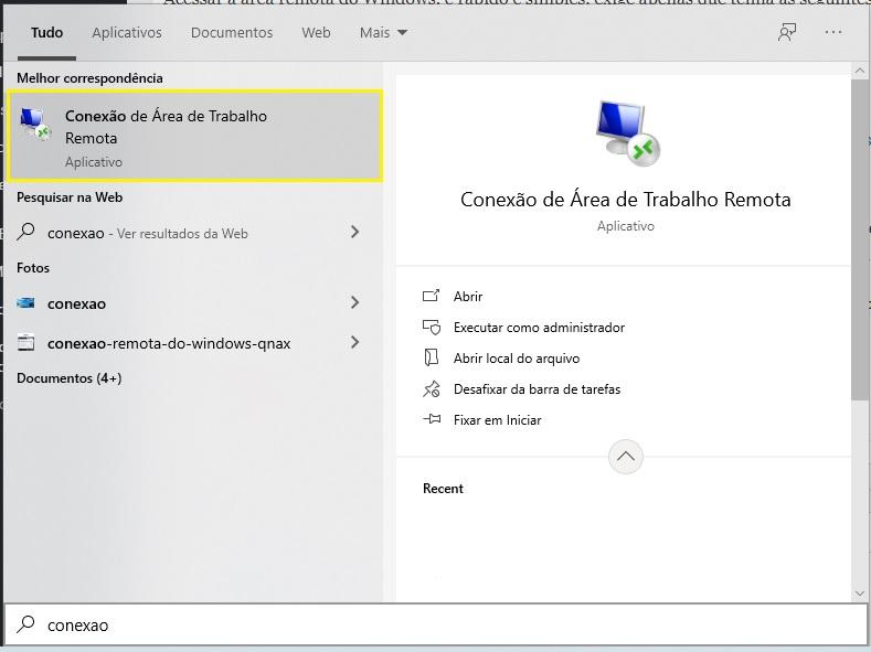 RDP, Conexão Remota do Windows